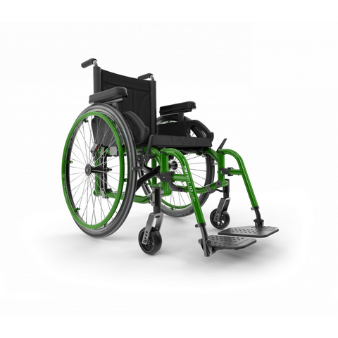 Motion Composites: Folding Wheelchairs Helio - A7 - Monster Green Color