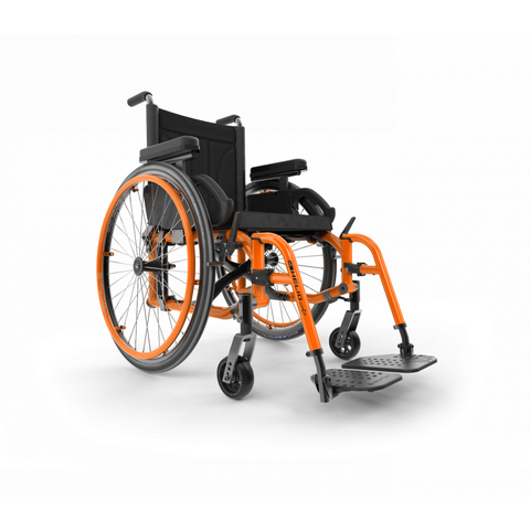 Motion Composites: Folding Wheelchairs Helio - A7 - Sunkissed Orange Color