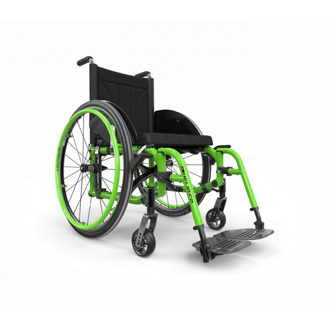 Motion Composites: Folding Wheelchairs Helio C2 - HC2 - Acid Green Color