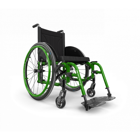 Motion Composites: Folding Wheelchairs Helio C2 - HC2 - Monster Green