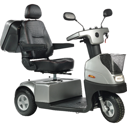 Afikim: Afiscooter C 3-Wheel Heavy Duty Mobility Scooter - C3 - Silver Color
