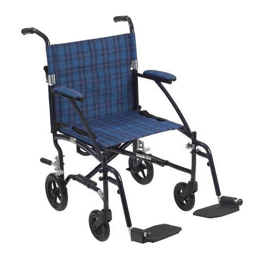 Drive Medical Fly-Lite Aluminum Transport Chair - Black Color