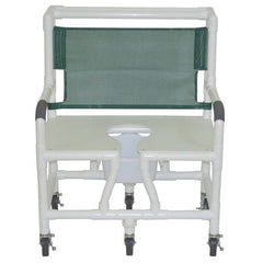 "Graham Field: 	Lumex 26"" PVC Bariatric Shower Commode Chair with Sliding Footrest - 89251"