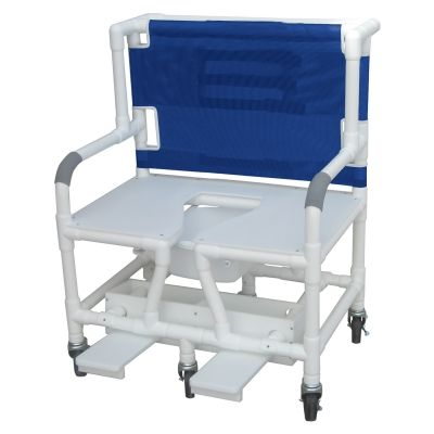 "Graham Field: 	Lumex 30"" Bariatric Commode Bath Chair with Sliding Footrest - 89351"