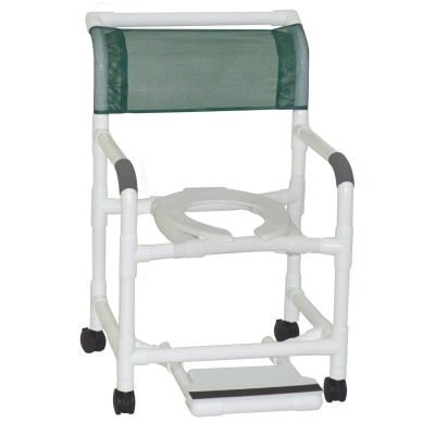 "Graham Field: 	Lumex 22"" PVC Shower Commode Chair with Sliding Footrest - 89210"