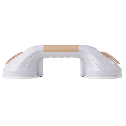 "Suction Cup Grab Bar, 12"", White and Beige - RTL13083"