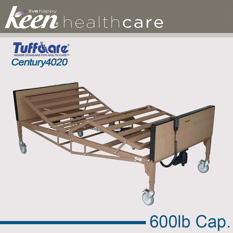 Keen Healthcare: Tuffcare® Century Bariatric Full Electric Bed Frame - EFFTCT4020 - Adjust With Bed