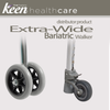 Keen Healthcare: Bariatric Extra Wide Walker with Rear Wheeled Glides - EFFTCW500BW - Wheels