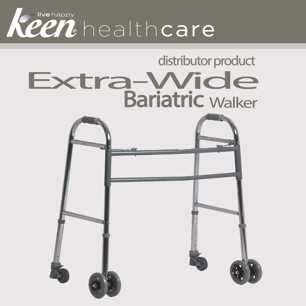 Keen Healthcare: Bariatric Extra Wide Walker with Rear Wheeled Glides - EFFTCW500BW - Actual Image