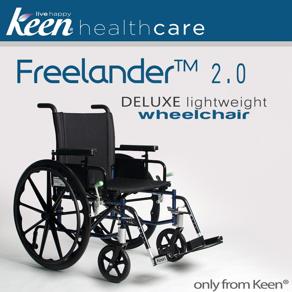 Keen Healthcare: Keen Freelander 2.0 Deluxe Lightweight Wheelchair (Elevating) - FRD2-M16x16-EL - Actual Image