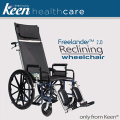 Keen Healthcare: Keen® Freelander™ 2.0 Reclining Wheelchair - FRD2-R - Actual Image
