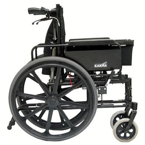 Karman Healthcare:  KM-5000 Self Propel TILT Wheelchair  – KM5000F folded