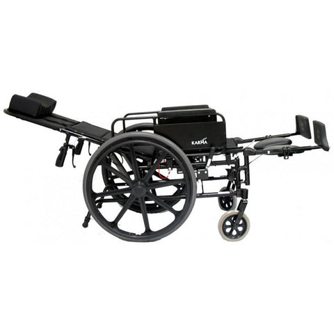 Karman Healthcare:  KM-5000 Self Propel TILT Wheelchair  – KM5000F full opened