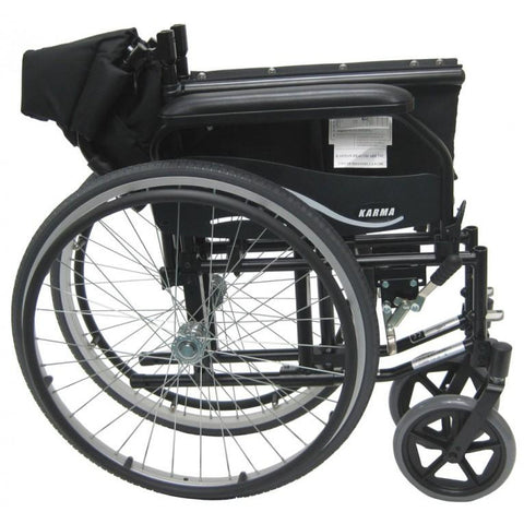 Karman Healthcare : Lightweight Wheelchair  – KM-802F folded