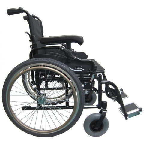 Karman Healthcare: Lightest Weight Bariatric Wheelchairs – KM-8520-22W Side View