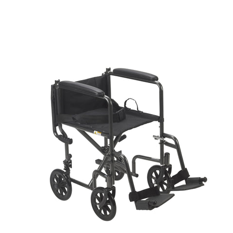 Drive Medical: Lightweight Steel Transport Wheelchair, Fixed Full Arms