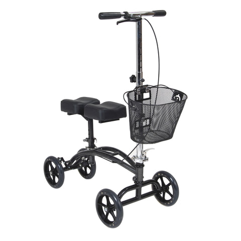 Dual Pad Steerable Knee Walker Knee Scooter with Basket, Alternative to Crutches - 796
