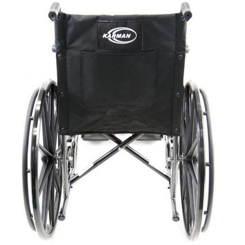 Karman Healthcare : Portable Lightweight Wheelchair  – LT-800T  back view