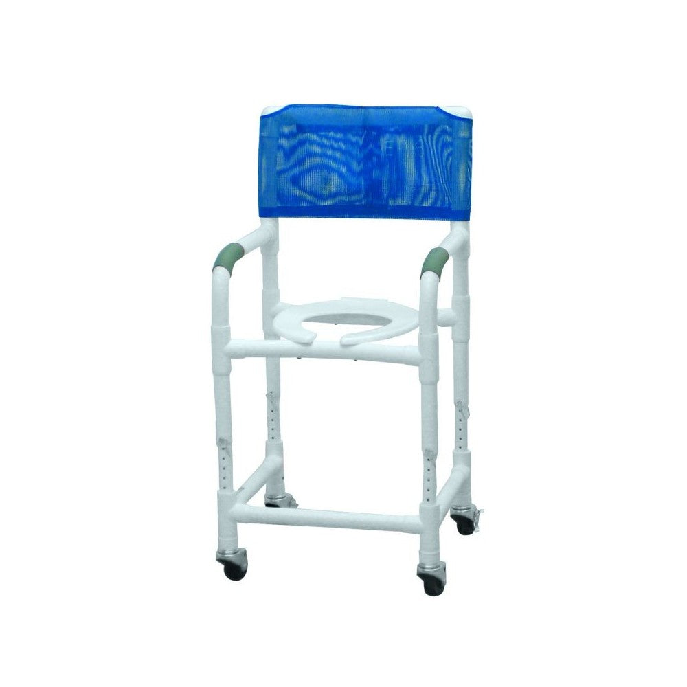 "Graham Field: Lumex 18"" PVC Shower Commode Chair with Adjustable Height - 89150"
