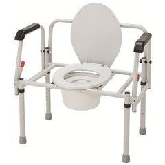 Merits: Bariatric 3-In-1 Steel Commode (Pack of 2)