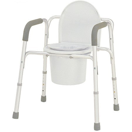 Merits: Deluxe 3-In-1 Aluminum Commode - C321