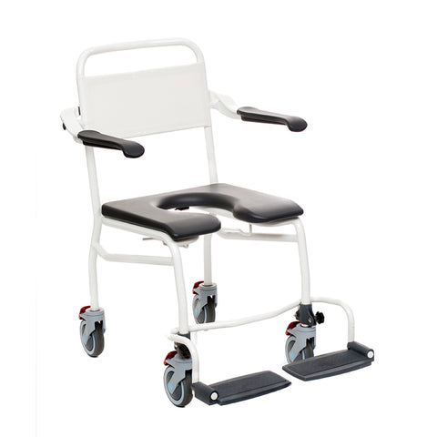 "Handicare: Mobile Commode/Shower Chair 24"" (User Operated - Open Front) - LI2138.0211-02"