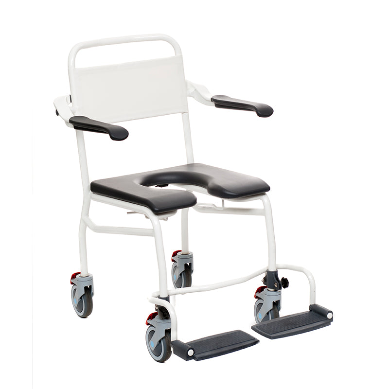 "Handicare: Mobile Commode/Shower Chair 20.9"" (Caregiver Operated - Closed Front) - LI2137.1111-02"