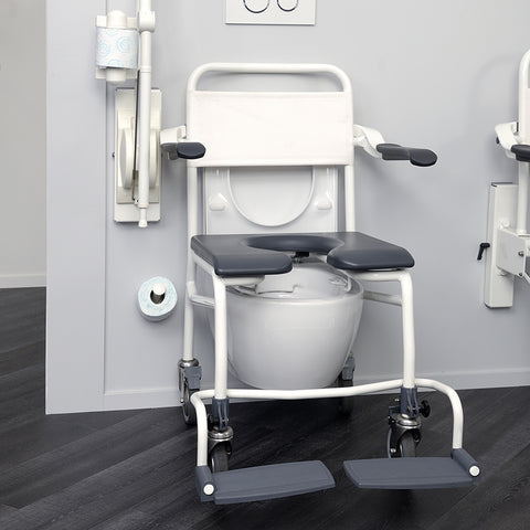 "Handicare: Mobile Commode/Shower Chair 20.9"" (User Operated - Open Front) - LI2138.1211-02"