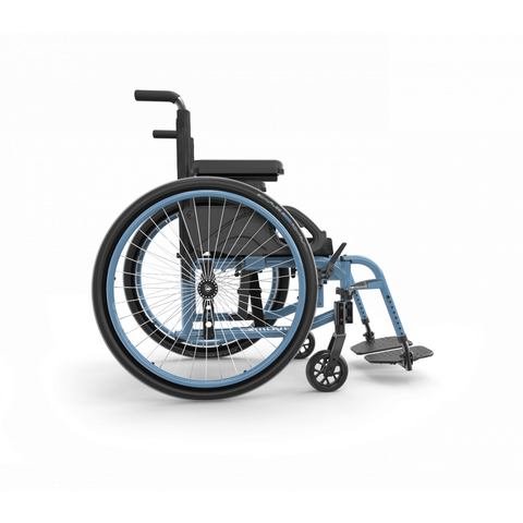 Motion Composites: Folding Wheelchairs Move - Steel Blue Color