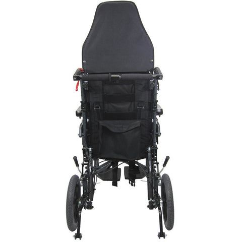 Karman Healthcare: Premium Ergonomic Folding Recliner Transport Wheelchairs – MVP-502-TP back side