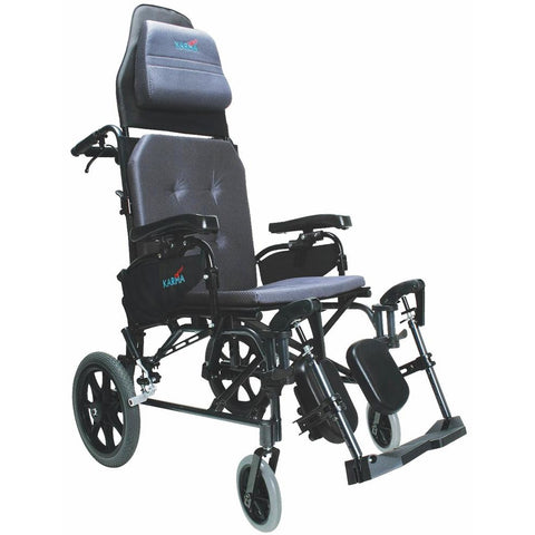 Karman Healthcare: Premium Ergonomic Folding Recliner Transport Wheelchairs – MVP-502-TP main view