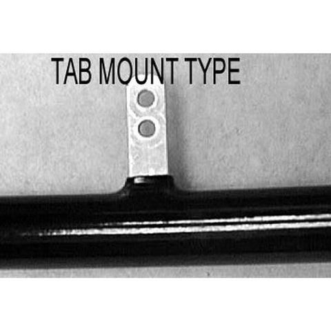 "New Solutions: 24"" (540) Tab Mount (6) Pushrim Black Anodized - PR063"