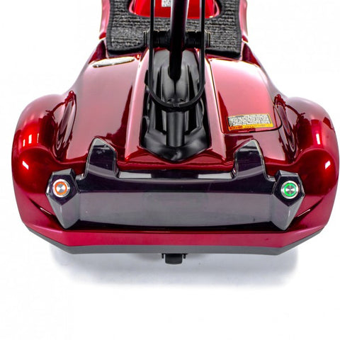 EV Rider: Transport AF+ Automatic Folding Mobility Scooter - S19AF Red Back View