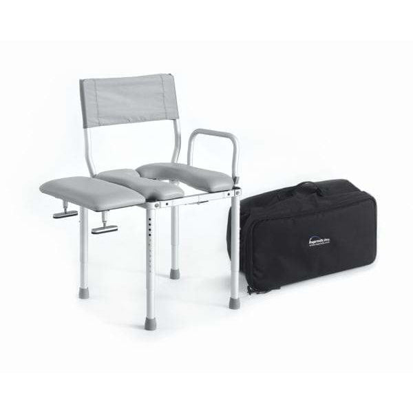 Nuprodx: Multichair Travel Shower/Commode Seat with Swing-Away Transfer Bench