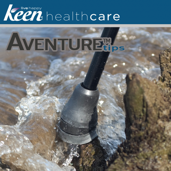 Keen Healthcare: Keen® Aventure™ Pivoting Crutch Tips - AT1-N - Use in Water