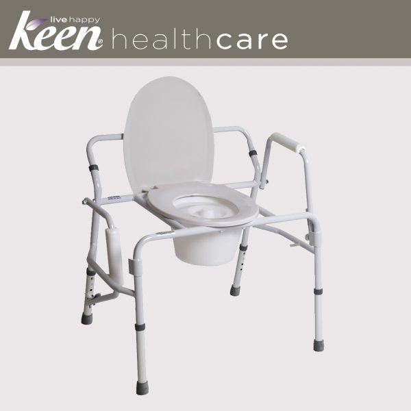 Keen Healthcare: Tuffcare Bariatric Drop Arm Commode - EFFTCM470