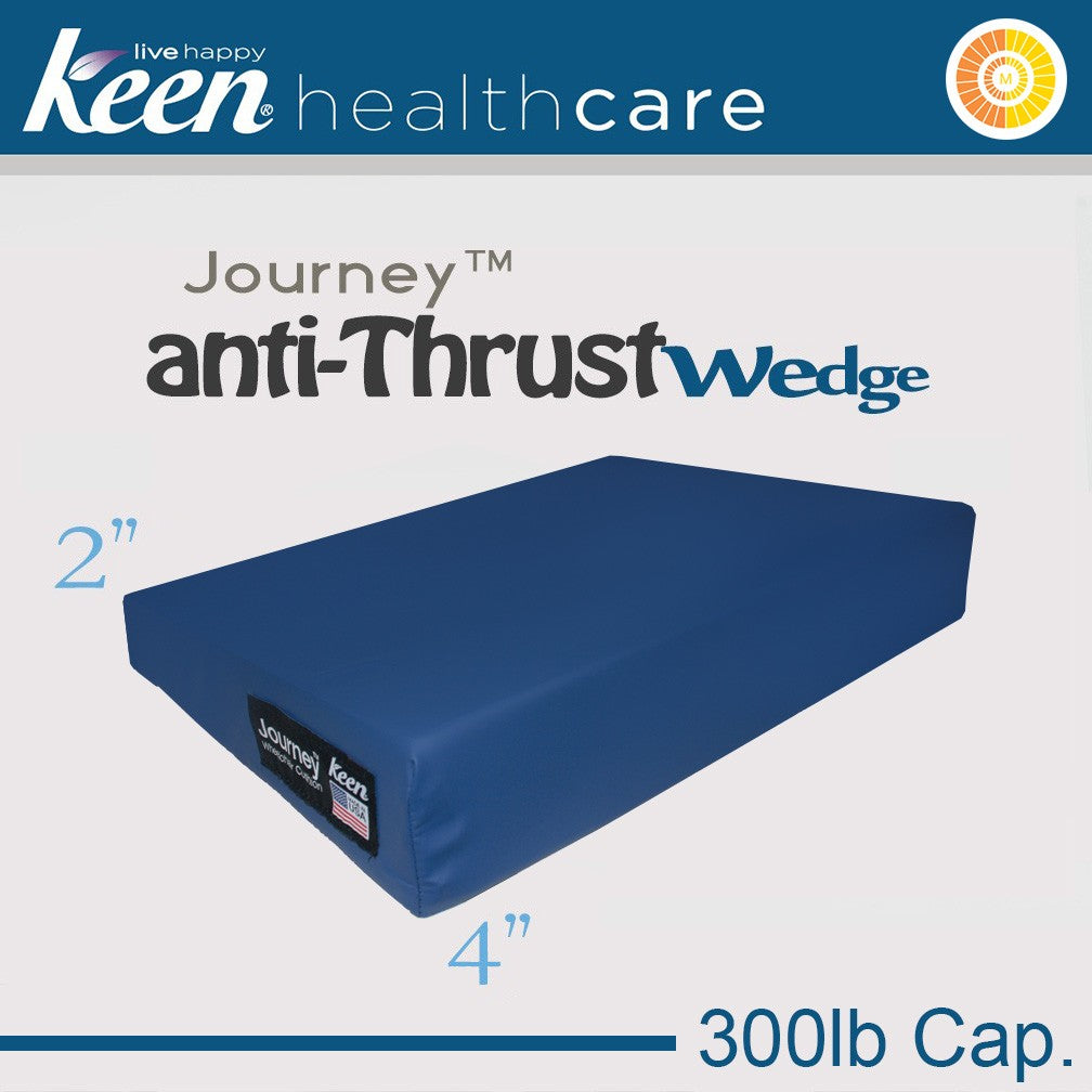Keen Healthcare: Keen® Journey™ Anti-Thrust Wedge Cushion - STW4EZ16x16 - Blue Color