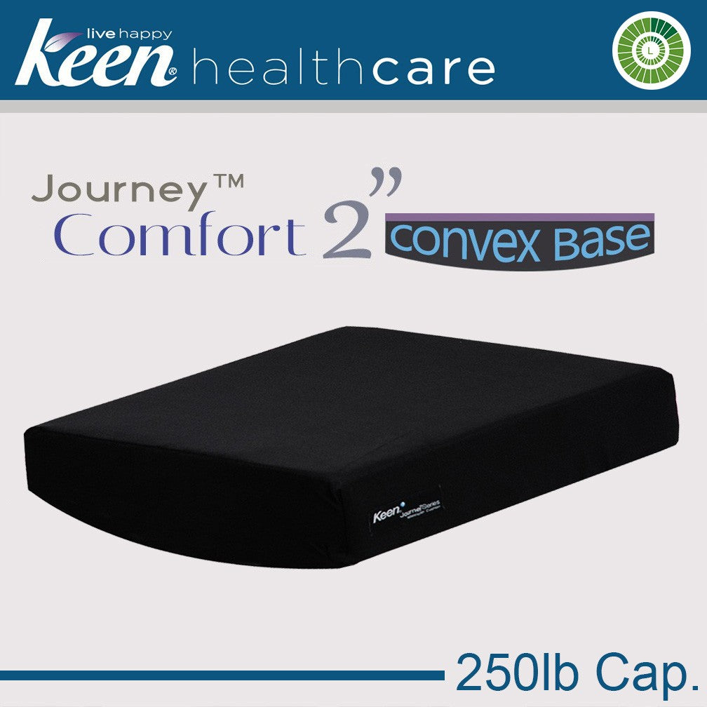 Keen Healthcare: Keen® Journey™ Comfort Convex-Base Cushion 2″Model without Anchors – SC2EZ16x16 - Actual Image