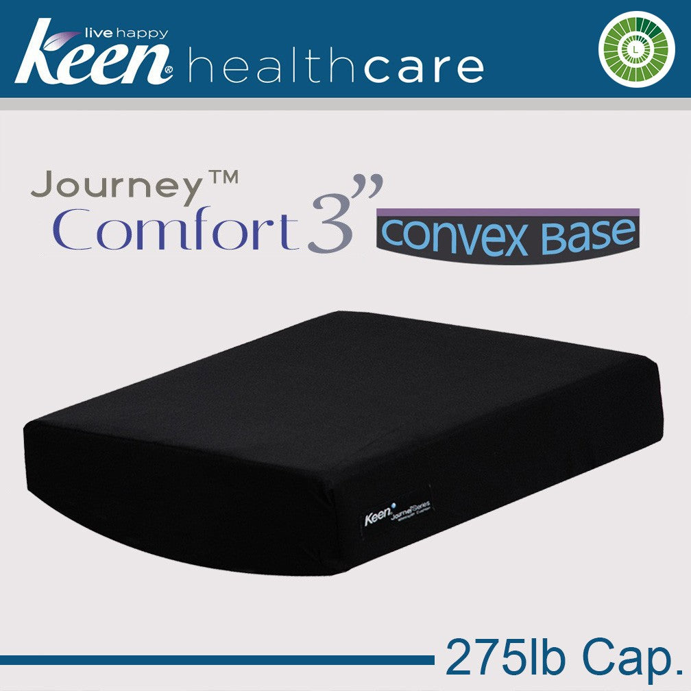 Keen Healthcare: Keen® Journey™ Comfort Convex-Base Cushion 3″ Model without Anchors – SC3EZ16x16