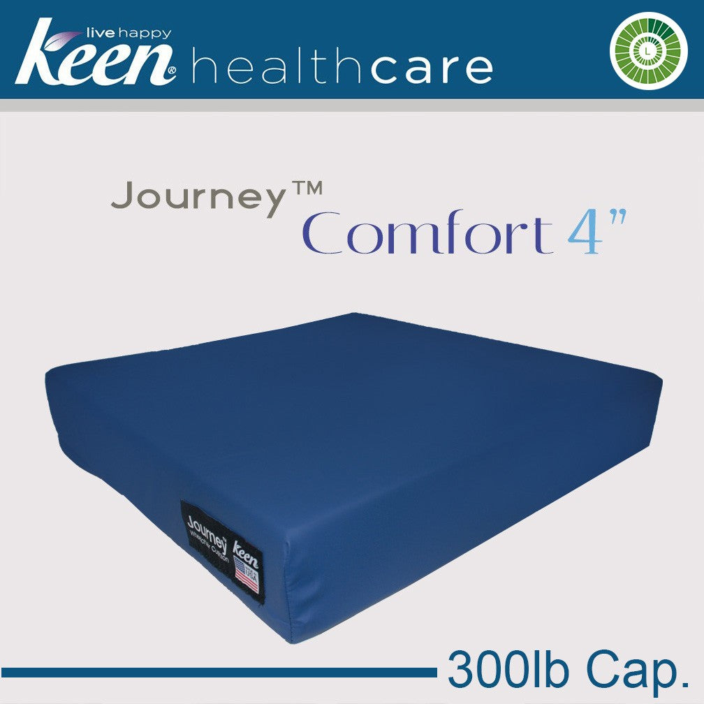 Keen Healthcare: Keen® Journey™ 4″ Comfort Cushion without Anchor - EZ16x16 - Blue