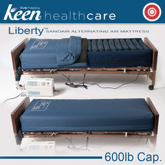 "Keen Healthcare: Keen Liberty SanoAir True Low Air Loss Alternating Air Mattress with 4"" Raised Foam Bolsters - LSAN-35x80 4-BOLSTER - Actual Image"