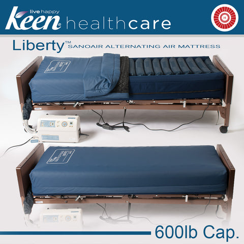 Keen Healthcare: Keen® Liberty™ SanoAir True Low Air Loss Alternating Air Mattress - LSAN - Actual Image