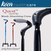 Image of Keen Healthcare: Keen® Quest™ Shock-Absorbing Quad Cane - QQT Actual Image