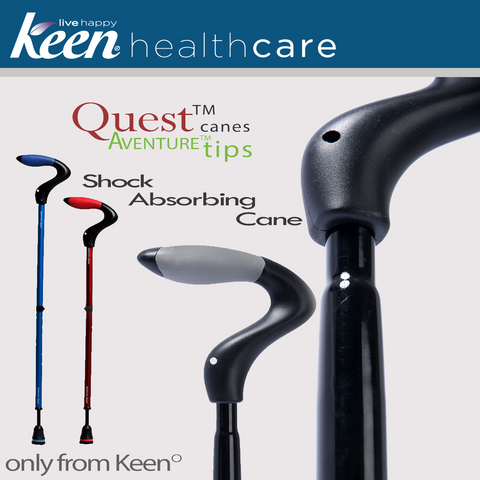 Keen Healthcare: Keen® Quest™ Shock-Absorbing Single Point Cane - QST - Actual Image