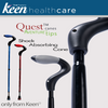 Image of Keen Healthcare: Keen® Quest™ Shock-Absorbing Single Point Cane - QST - Actual Image