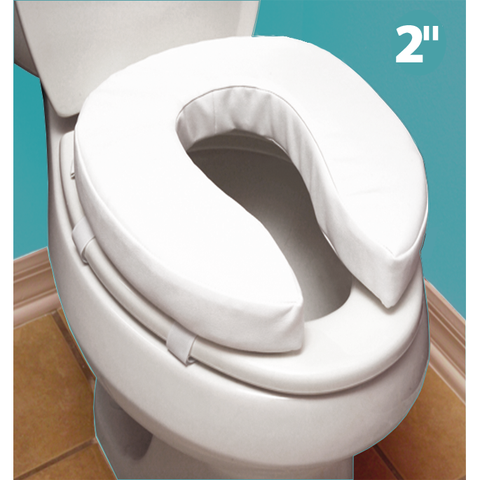 "Mobb Healthcare: Padded Raised Toilet Seat: 4"" - MHTR - 2"" Size"