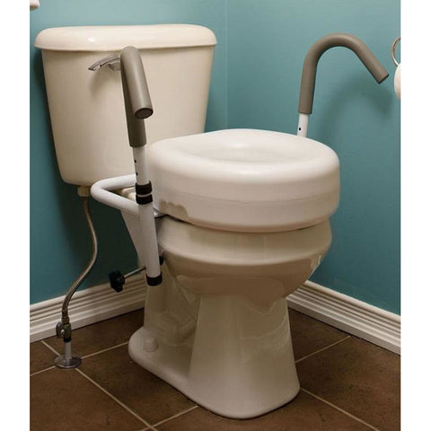 "Mobb Healthcare: 5"" Raised Toilet Seat - MHRTSD5 - Actual Image"