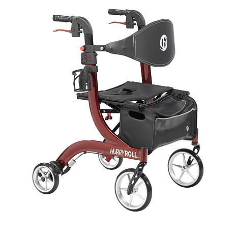 Mobb Healthcare: HurryRoll Rollator Rolling Walker By HurryCane - Red Color