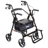 Image of Mobb Healthcare: 4 Wheel Rollator Drive Duet Rollator/Transport Chair - DR795 - with Footrest Opening View