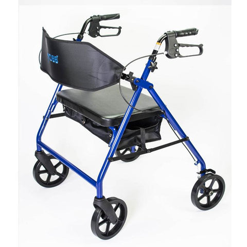 Mobb Healthcare: Ultra Heavy Duty Bariatric Aluminum Rollator with 500 lbs Weight Capacity - MHHRLS - Side View